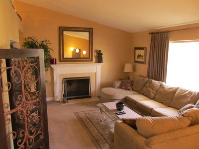 Formal Living Room w/fireplace & flat screen TV