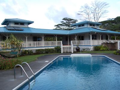 Keaau house rental - View from the pool