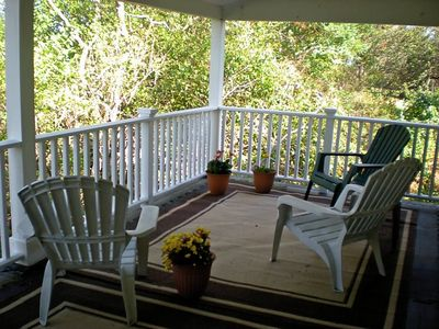 Biddeford house rental - Covered Second Floor Deck