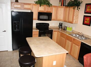 Plenty of room in the kitchen. Newer appliances.
