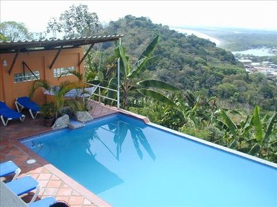 View of Pool Area Overlooking the Pacific & Quepos Town.