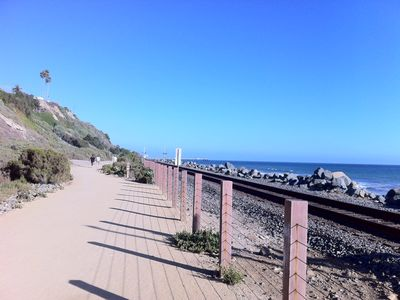 Bike/walking path along the beach, past the pier to south San Clemente