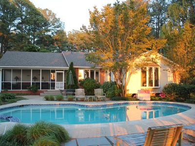 With a private waterfront and pool, make Sandy Pines your next vacation memory.