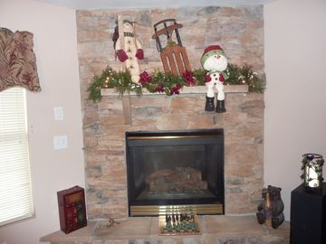 Gas Log Fireplace - with heatolater.