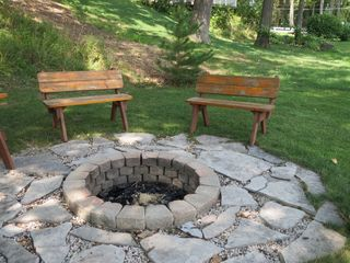 Fire pit - Sister Lakes cottage vacation rental photo