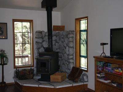 Heat includes wood stove in addition to propane.