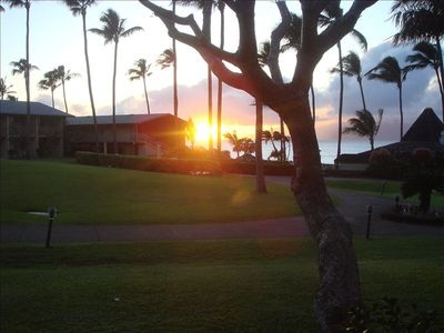 Sunset View from the Lanai