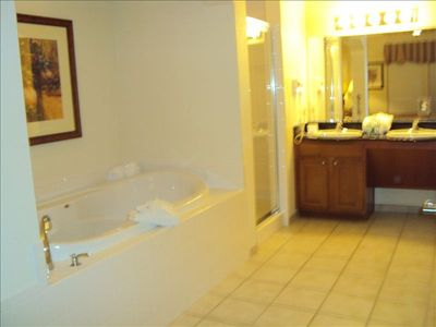 Master Bath w jacuzzi style tub and walk-in shower
