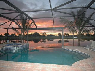 Cape Coral villa photo - just one of the amazing sunsets to be had from the laini