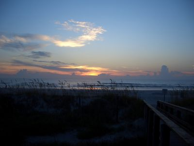 Get your coffee and sit on the beach ramp deck! Awesome sunrises!