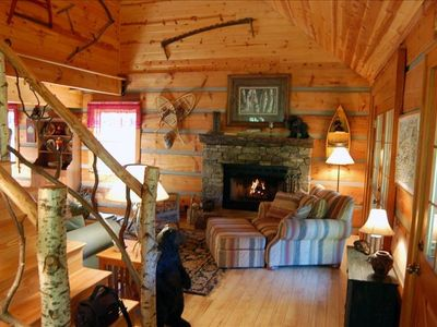 Winding Falls Cabin, Sit by the fire and relax