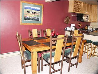 Vail townhome photo - Dining Area for 6