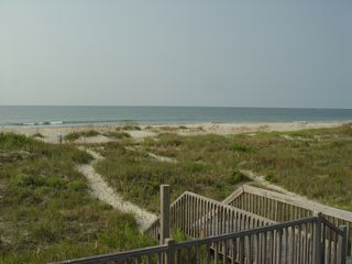 Holden Beach house photo - Ocean view from walkway landing of house