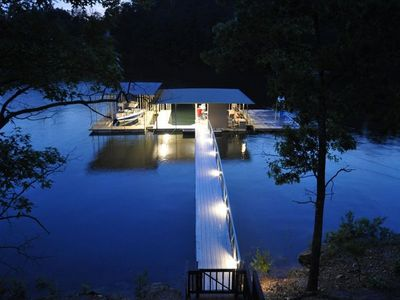 Boat Dock at Night