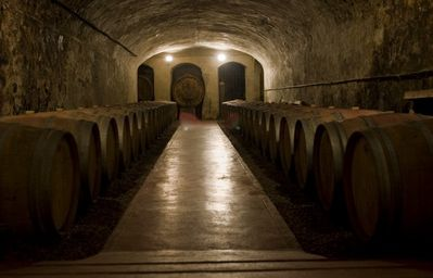 The old Cellar in the center of the village for wine tasting free entrance