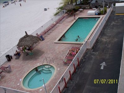 .Pool & Hot Tub from Balcony