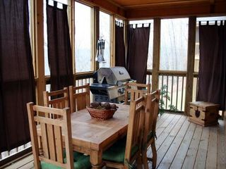 Branson lodge photo - Screened In Deck with BBQ Grill PLUS 2nd Refrigerator