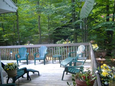 Harbor Springs house rental - Outside Deck with plenty of seating