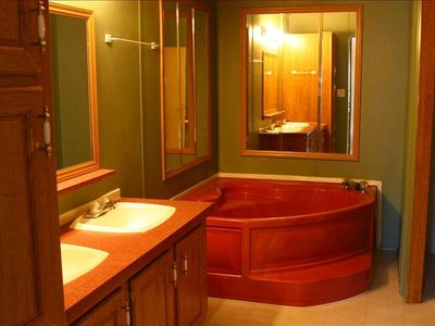 Master Bath with Large Bath tub