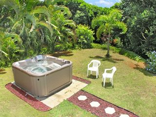 Princeville house photo - 5 Person Hot Tub in our Private Backyard