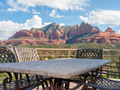 Endless views from the deck. More information? Search Majestic Sedona