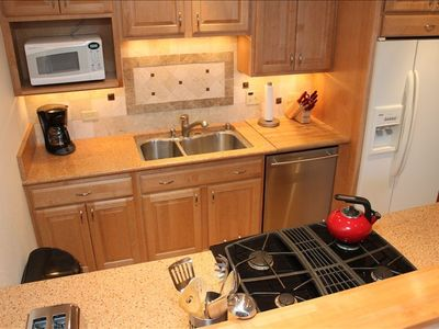Remodeled kitchen has updated appliances with all our guests need