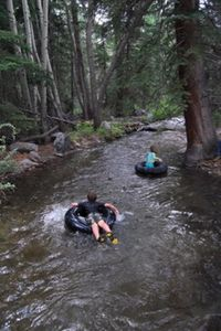 Inner-tubes are available for kids (large and small) to enjoy local creeks