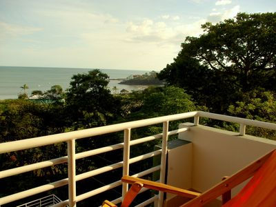 Enjoy the sounds of the ocean and beautiful view from the master bedroom balcony