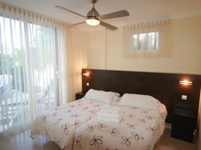 Las Americas apartment rental - WONDERFUL MAIN BEDROOM WITH EN-SUITE & PATIO-2 BED