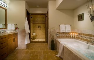 Teton Village lodge photo - Luxurious master bath with steam shower