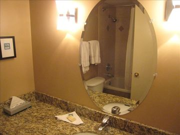 One of our upgradet Bathrooms at the Glacier lodge