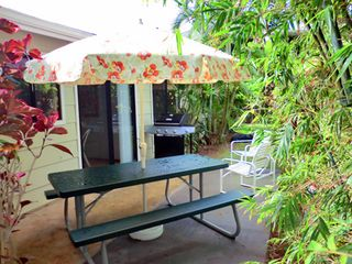 Wailua house photo - Outdoor living on private patio
