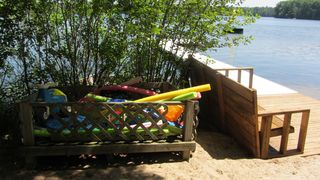 Interlochen cottage photo - sand toys and floaties for the kids