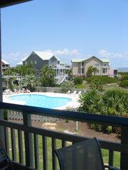 Harbor Island condo photo - Standing on the deck, looking left, toward the pool