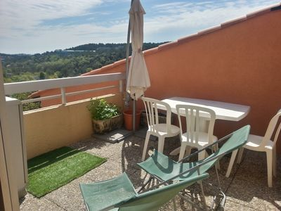 2 rooms with mezzanine well equipped with mountain and sea view terrace