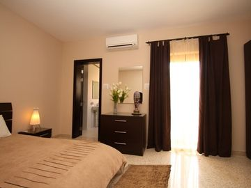 Apartment 1 Master bedroom with air-con