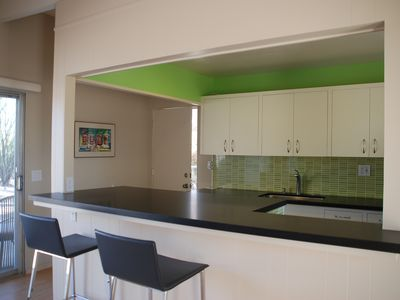 Borrego Springs house rental - Black honed granite countertops