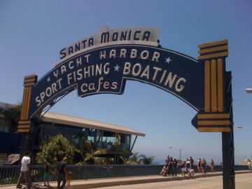 Nearby - Santa Monica Pier - 12 blocks away