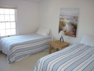 Hyannis - Hyannisport house photo - twin bedroom on 2nd floor overlooking woods