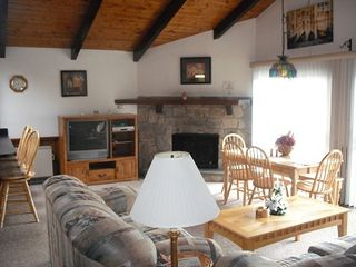 Bartlett condo photo - Nice Gas Fireplace and dining area.Big TV with Cable and DVD player
