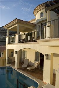 Our Montecristo Villa overlooking the private pool.