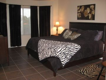 Master bedroom , King bed
