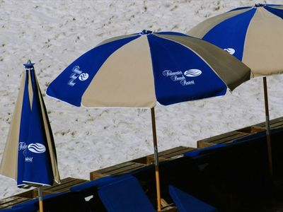 Chill out on the beach under the umbrella