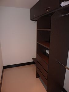 Walk-in clostet with safe deposit box in Master Bedroom