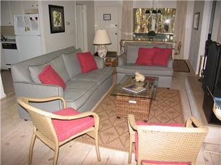 Kiawah Island cottage photo - Living Room from Screen Porch