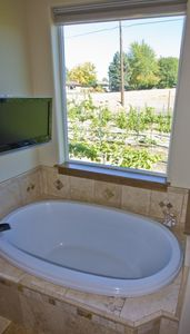 Master Soaker Tub with TV