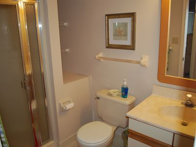 hall bath with shower stall
