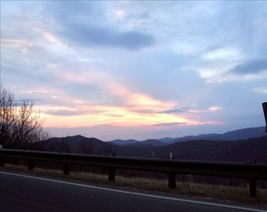 The Sunsets are incredible at Wintergreen! View from Wintergreen Drive