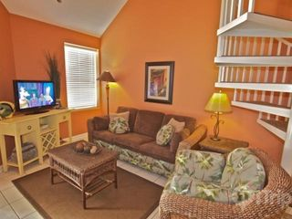 "Orange Beach condo photo - Living area with sofa sleeper and 31"" flat screen TV"