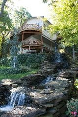 Eucha house photo - Our decks overlook the lake and waterfalls